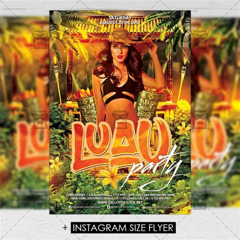 Free Luau Flyer Template