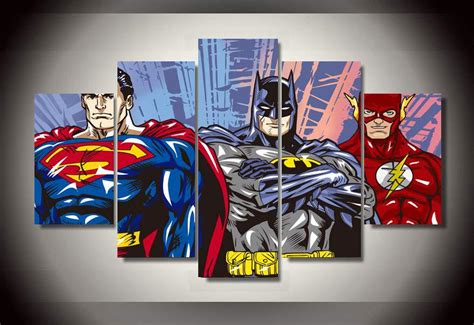 justice league bedroom decor animated superman pictures reviews online shopping