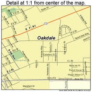 oakdale california map 0652694