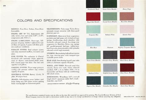 New Home Interior Colors Image 1961 Lincoln Continental 1961 Lincoln Continental 21