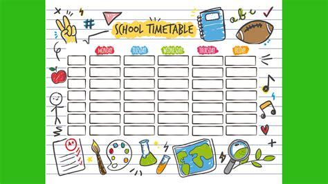 Back To School School Timetable Templates Part 1 Active Kids Tv Timetable Template