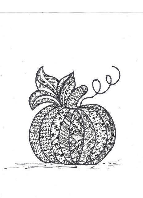 zentangle pumpkin coloring page printable fall coloring zentangle pumpkin patterns pinterest