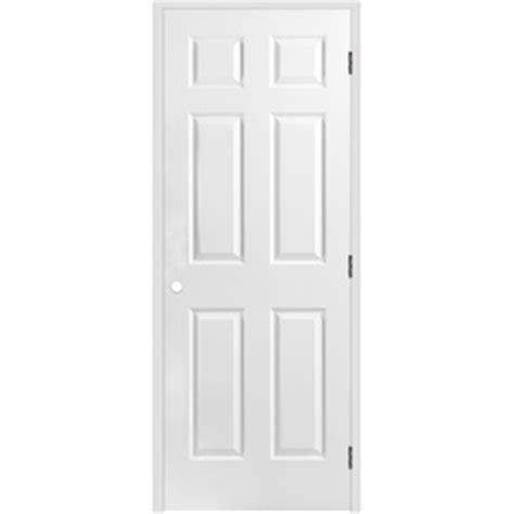 26 Prehung Interior Door Shop Reliabilt Prehung Hollow 6 Panel Interior Door Common 26 In X 80 In Actual 27 5 In