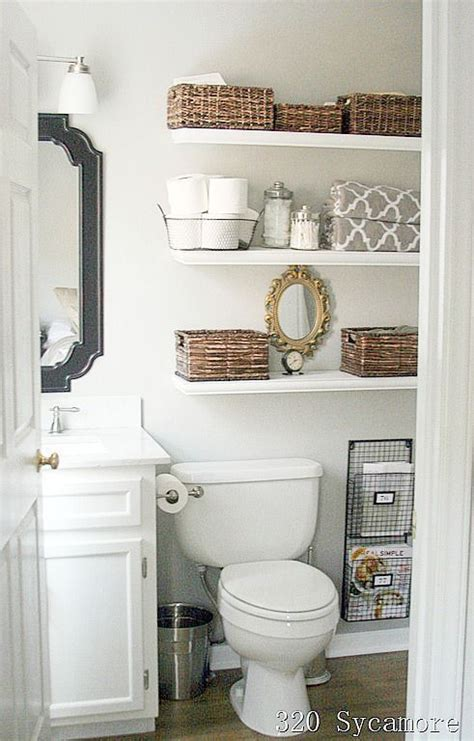 11 fantastic small bathroom organizing ideas toilets bathroom ideas and white floating shelves