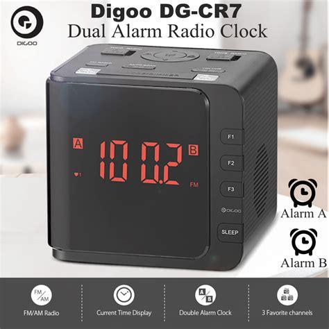 funk wanduhr digital groß digoo dg cr7 led funk uhrenradio digital radiowecker am fm
