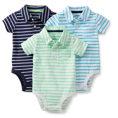 baby boy clothes baby bodysuits baby by carters newborn 3 pk polo bodysuits set baby boy clothes