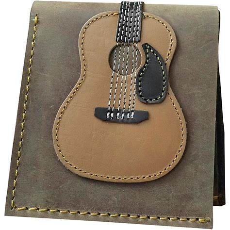 Handmade Wallet Leather - axe heaven dreadnought acoustic guitar wallet handmade