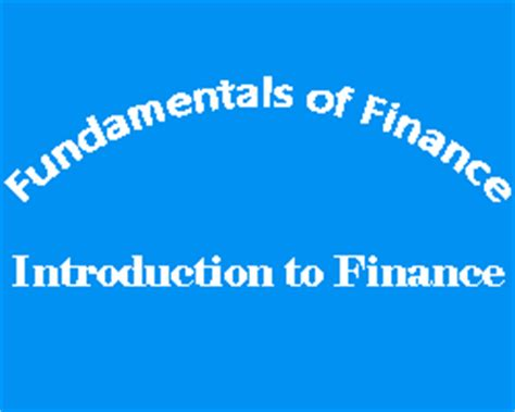 Mba Hons Meaning by Introduction To Finance 187 Digital Study Center An