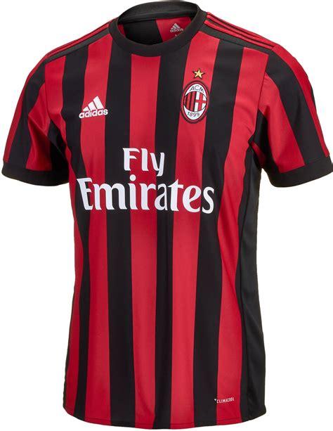 Kaosbajut Shirt Adidas Ac Milan adidas ac milan home jersey 2017 18 soccer master