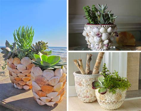 vasi con conchiglie decorare con le conchiglie 27 idee originali per la casa
