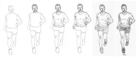 A Drawing Of A Person by How To Draw A Running Let S Draw