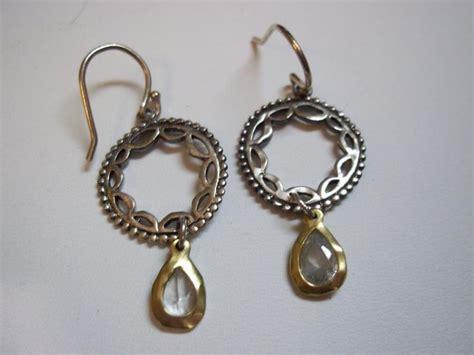 w2373 retired silpada sterling silver brass earrings