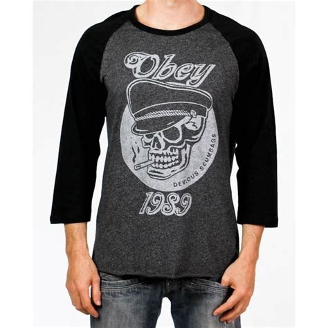 Tshirt Obey Abs 60 obey devious scumbags t shirt black slashsport