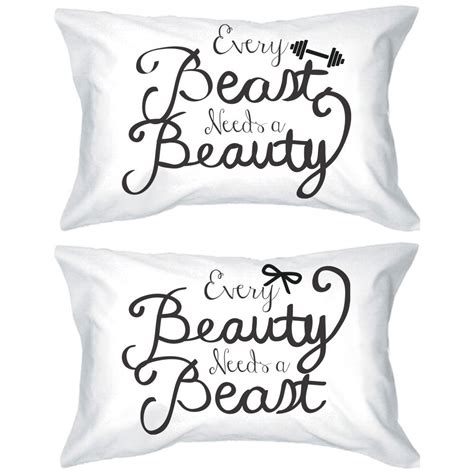 Amazon.com   His and Hers Romantic Pillowcases 220 Thread Count Standard Size 20 x 31   Every