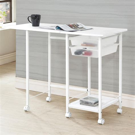 computer desk with casters 800430 folding desk with casters from coaster 800430