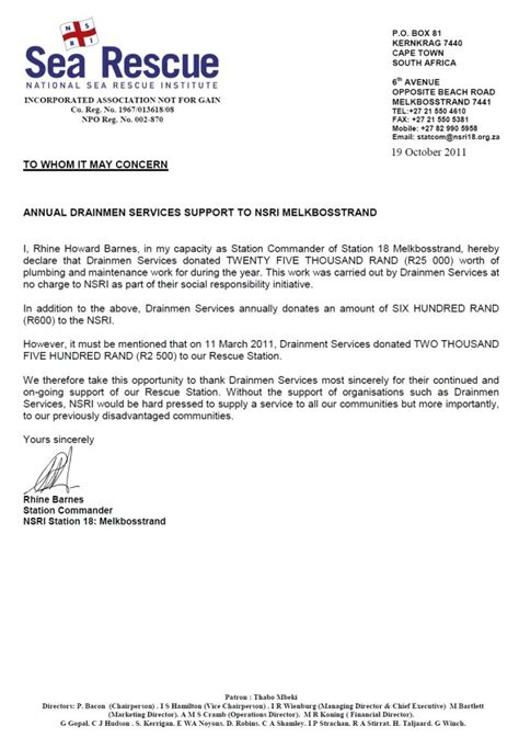 National Insurance Contribution Letter X certificates drainmen