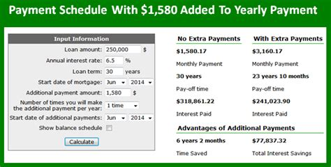 mortgage payment calculator extra full see amortization with