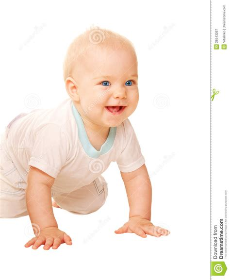 Happy Baby Crawling happy baby crawling royalty free stock photography cartoondealer 40863017