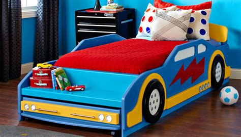 car with bed race car bed
