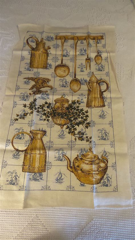 items in richards vintage photos store on ebay vintage linen kitchen towel antique kitchen items blue