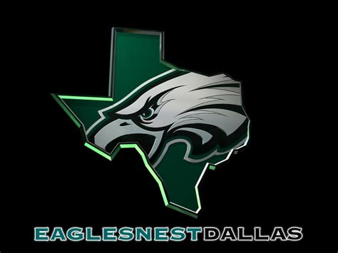 philadelphia eagles fan club this is a 3d version of the eaglesnestdallas logo a logo