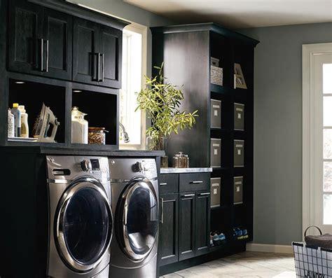 Dark Grey Laundry Cabinets Kemper Cabinetry Grey Laundry