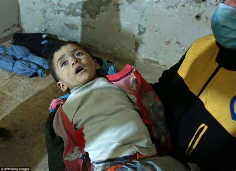 attacks child syrian children among victims of assad s new gas attacks daily mail