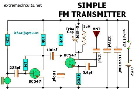 simple transistor fm transmitter simple fm transmitter the circuit