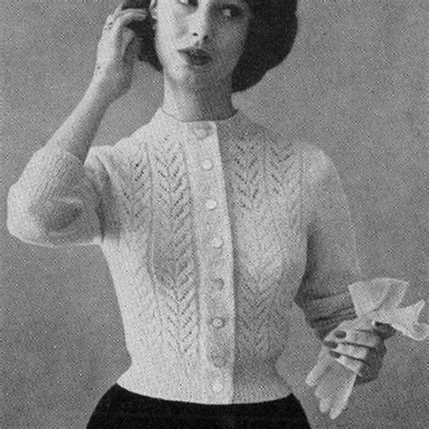 leaf pattern vintage vintage style knitting patterns crochet and knit