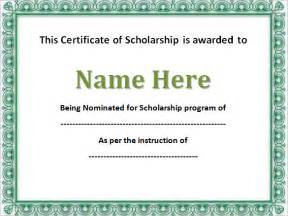 scholarship certificate template 43 formal and informal editable certificate template
