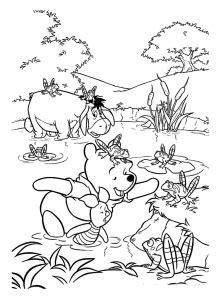 Coloriage Winnie l'ourson et ses amis - Coloriages pour