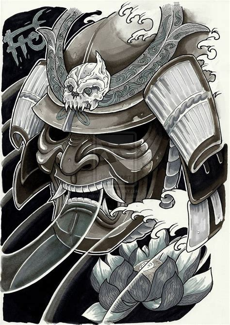 oni mask tattoo 25 best ideas about samurai mask on