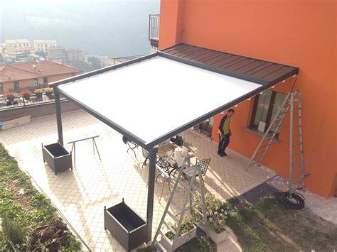 pergole da terrazzo pergolati in alluminio tendasol