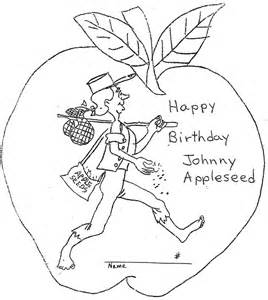 Johnny Appleseed Coloring Pages Coloring Home Johnny Appleseed Coloring Page