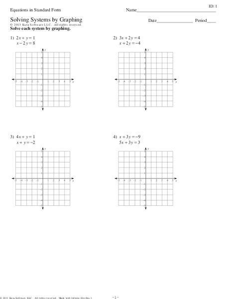 Solving System Of Equations By Graphing Worksheet by Worksheets Graphing Using Intercepts Worksheet
