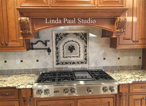 kitchen medallion backsplash grapes mosaic tile medallion kitchen backsplash mural