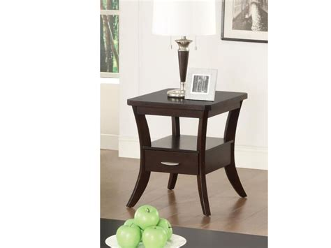 espresso end table with drawer espresso flared leg end table with drawer