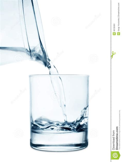 What To Fill Glass With Filling A Glass With Water Stock Image Image 30135381