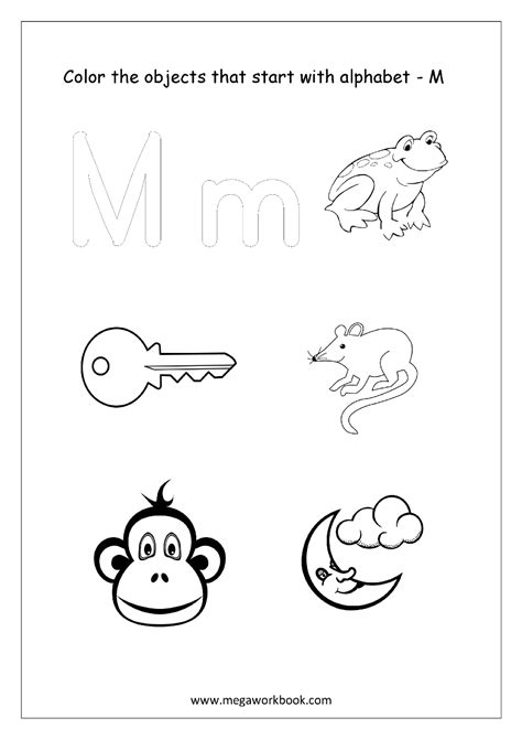 colors that start with m alphabet picture coloring pages things that start with