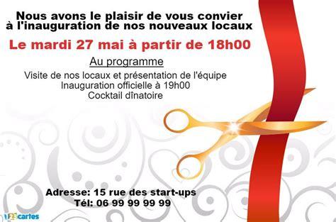 Modele Invitation Inauguration invitation inauguration ciseaux et ruban 123cartes