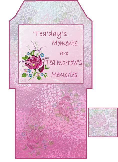Tea Bag Holder Card Template by Printable Tea Bag Holders Printable 2 Quot Box Re1 I Want