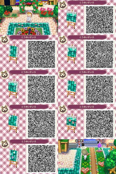 acnl qr codes paths water flower path animal crossing path qr codes