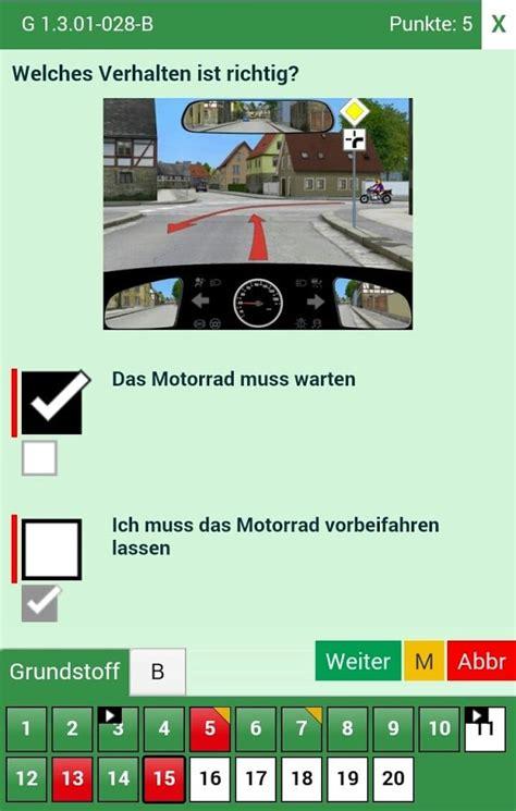 Motorrad F Hrerschein Theorie Fragen by F 252 Hrerschein Theorie Pro 2016 Android Apps On Google Play