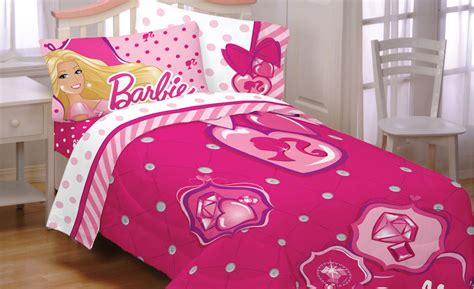 barbie bed set barbie twin bed comforter set 3pc sweet silhouette