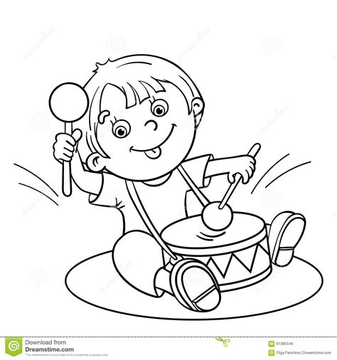 coloring pages drummer boy coloring page outline of a cartoon boy playing the drum