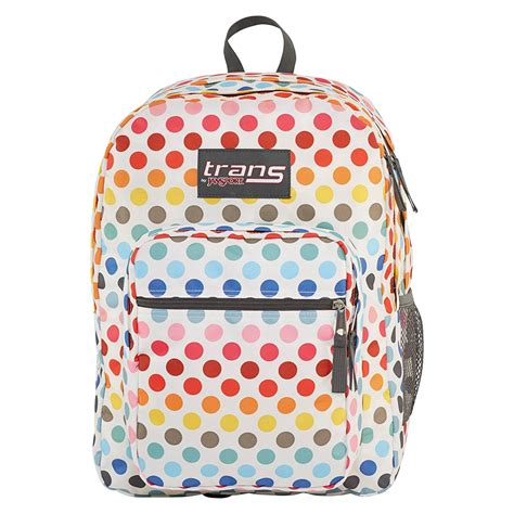 backpack 3in1 polkadot jansport backpack supermax rainbow polka dot 15 laptop