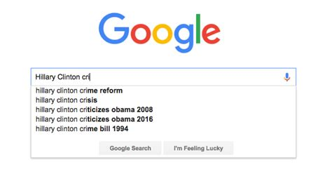 What Did Search For In 2016 Did Adjust Its Autocomplete Algorithm To Hide Clinton S Problems