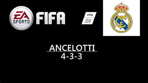 Custom Fc Real Madrid 004 fifa custom tactics fc real madrid carlo ancelotti 4 3 3 system hd soccer cave