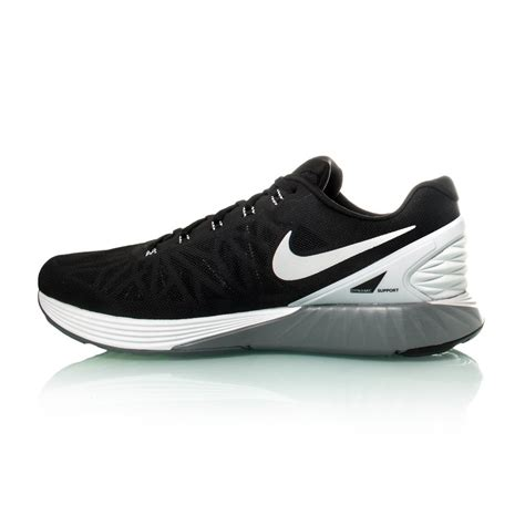 mens nike running shoes nike lunarglide 6 mens running shoes black white grey
