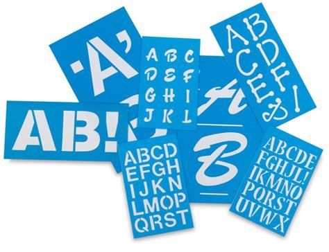 Plastic Letter Templates westcott c thru betterletter plastic letter stencils